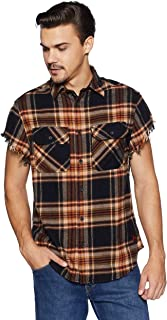 People Men's Checkered Loose Fit Casual Shirt