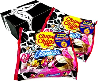 Chupa Chups Cremosa Ice Cream Lollipops, 16.93 oz Bags in a BlackTie Box (Pack of 2)