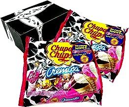 Chupa Chups Cremosa Ice Cream Lollipops, 16.93 oz Bags in a BlackTie Box (Pack of 2)