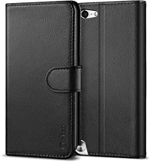 Vakoo Wallet Flip Case for iPod Touch 7 6 5, Premium PU Leather Phone Cover with Card Slot for Apple iPod Touch 7th 5th 6th Generation (Black)