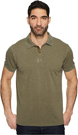 Lucky Brand Burnout Pique Polo Shirt