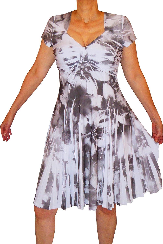 Funfash Plus Size Women Slimming Empire Waist White Black Dress New Made in USA