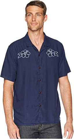 Club Collar Embroidered Shirt