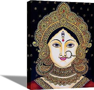 Tamatina Religious Art Framed Canvas Gallery Wrap Framed Paintings| Goddess Durga | Home Decorative Gift Item | Frame Siz...