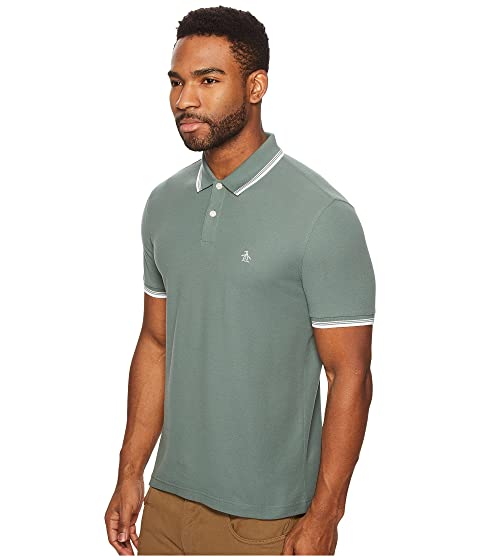 Original Penguin 56 Tipped Pique Polo Duck Green Free Shipping Looking For UxZUPc