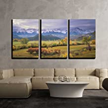wall26 - 3 Piece Canvas Wall Art - on a Rare Overcast Morning in Southwest Colorado on a Rancher - Modern Home Decor Stretched and Framed Ready to Hang - 16
