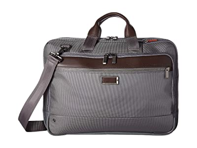 Briggs & Riley @Work Large Expandable Brief (Grey) Briefcase Bags