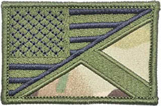 Scotland/USA Flag - 2x3 Morale Patch - Multiple Colors (Multicam)