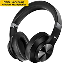 Updated 2020 Version Active Noise Cancelling Headphones apt-X Bluetooth Headphones with Microphone Deep Bass Wireless Headphones Over Ear, Comfortable Protein Earpads