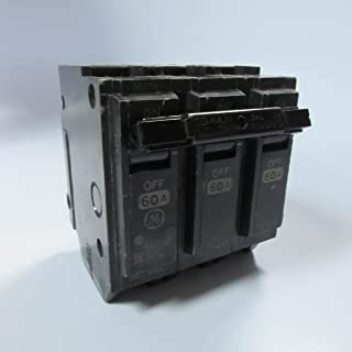 GE THQL32060 Plug-In Mount Type THQL Feeder Molded Case Circuit Breaker 3-Pole 60 Amp 240 Volt AC