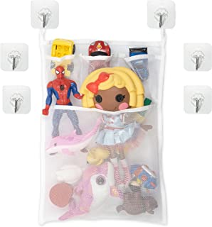 Organisateur de jouets de bain pour bébé, Sac de rangement pour jouets pour salle de bain et baignoire, Filet de Rangement...