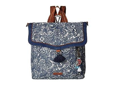 Sakroots Colette Convertible Backpack (Navy Spirit Desert) Backpack Bags