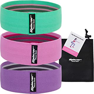 SPINZAR Resistance Band for Legs and Butt, Set of 3 Booty Band for Women/Men for Squat Glute Hip Thigh Workout, Thick Wide...