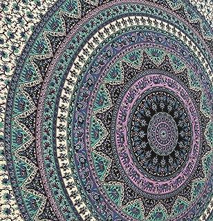 Mandala Tapestries, Indian Bedspread, Bohemian Tapestries, Wall Hanging, Beach Blanket, Queen size, Purple