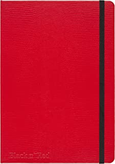 Black n' Red Casebound Hardcover Journal Notebook, Medium, Red, 71 Ruled Sheets, Pack of 1 (400065003)
