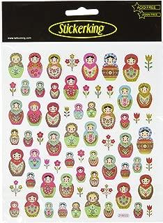 Tattoo King Multi-Colored Stickers-Russian Dolls Glitter