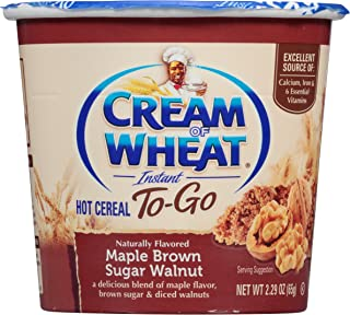 Cream of Wheat, Hot Cereal to Go, Maple Brown Sugar Walnut, 2.29 Ounce (Pack of 6)