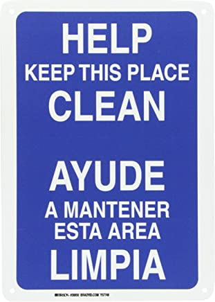 Brady 38850 Plastic Bilingual Sign, 14