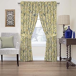"WAVERLY Fashion Curtains for Bedroom-Brighton Blossom 52"" x 63""-Rod Pocket Single Panel Privacy Window Treatment Living Ro..."