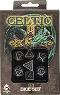 Celtic 3D Dice Gray/Black (7) Board Game