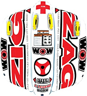 WOW World of Watersports,  12-1050 Zig Zag Inflatable Towable,  2 Person,  Steerable
