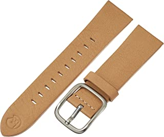 b&nd by Hadley Roma with MODE 22mm Leather Calfskin Brown Watch Strap