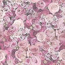 Vliesbehang Bloemen behang bloemen Paars 327224 32722-4 A.S. Création Urban Flowers | Paars | Rol (10,05 x 0,53 m) = 5,33 m²