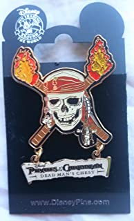 Disney Pirates of the Caribbean Dead Man's Chest Pin Skull & Burning Cross Bones