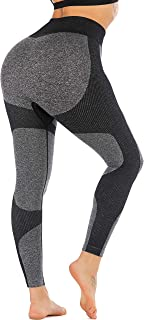 RUNNING GIRL Women Butt Lift Seamless Yoga Leggings High...