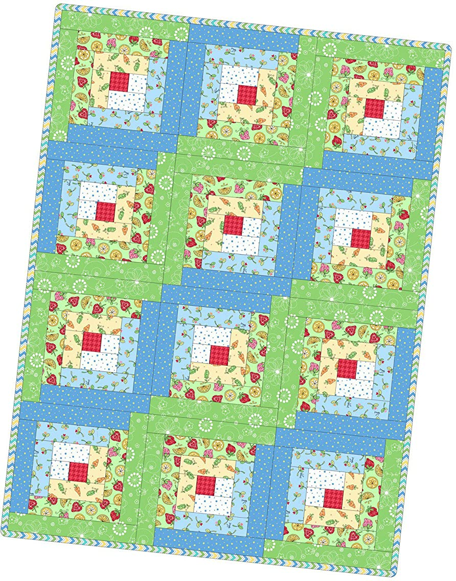 Kim Christopherson Lil' Sprout Flannel Too Log Cabin Pod Quilt Kit Maywood Studio