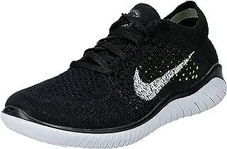 Nike Womens Free RN Flyknit 2018 Running Shoes (6 B(M) US) Black/White