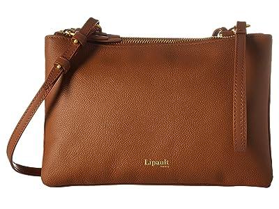 Lipault Paris Plume Elegance Leather Multi Pouch Bag (Cognac) Handbags