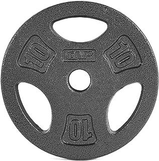 CAP Barbell Standard Grip Plate, Black
