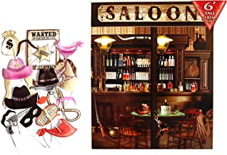 Wild Western Cowboy Party Themed Decoration Backdrop and Photo Booth Props