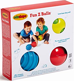 Fun Z Balls - 3 Pack Of Fun Sensory Balls - Brightly Colored And Textured For Tactile Development - Kid's Can Roll Bounce ...