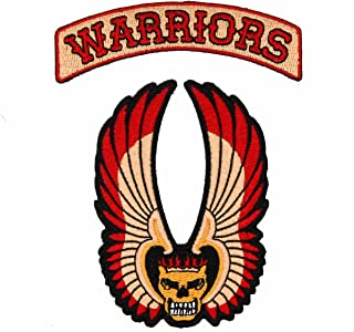 NEO Tactical Gear The Warriors Movie Patch Set - Coney Island Gang - Warriors Come Out to Play - Cosplay Biker MC Motorcycle Winged Skull Patch - Hook Backed