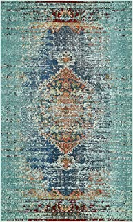 A2Z Rug Modern Contemporary & Traditional Design Rugs, Turquoise 5' x 8'-Feet Milano Collection Area rug