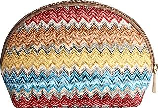 Rainbow Zig-Zag Design Makeup Bag Travel Cosmetic Bag Brush Bag for Women Girls by Signare (COSM -AZT)