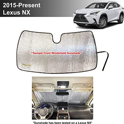 new arrival YelloPro Custom Fit Automotive Reflective outlet online sale Front Windshield Sunshade Accessories UV Reflector Sun discount Protection for 2015 2016 2017 2018 2019 2020 2021 Lexus NX 200T, 300, 300H, 300F, F Sport, Crossover online