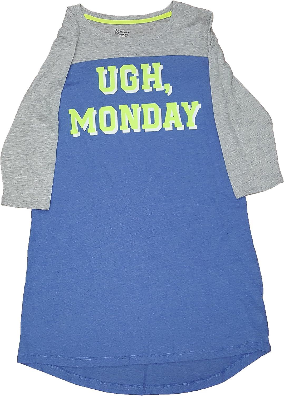 No Boundaries Ugh Monday Nightgown Long Sleep Shirt