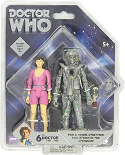 Underground Toys Doctor Who Peri and Rogue Cyberman Figures, 5