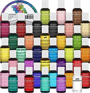 U.S. Cake Supply 36 Color Cake Food Coloring Liqua-Gel Decorating Baking Master Set of All 36 Colors - 0.75 fl. oz. (20ml)...
