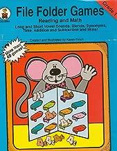 File Folder Games Book Reading & Math: Grade 1