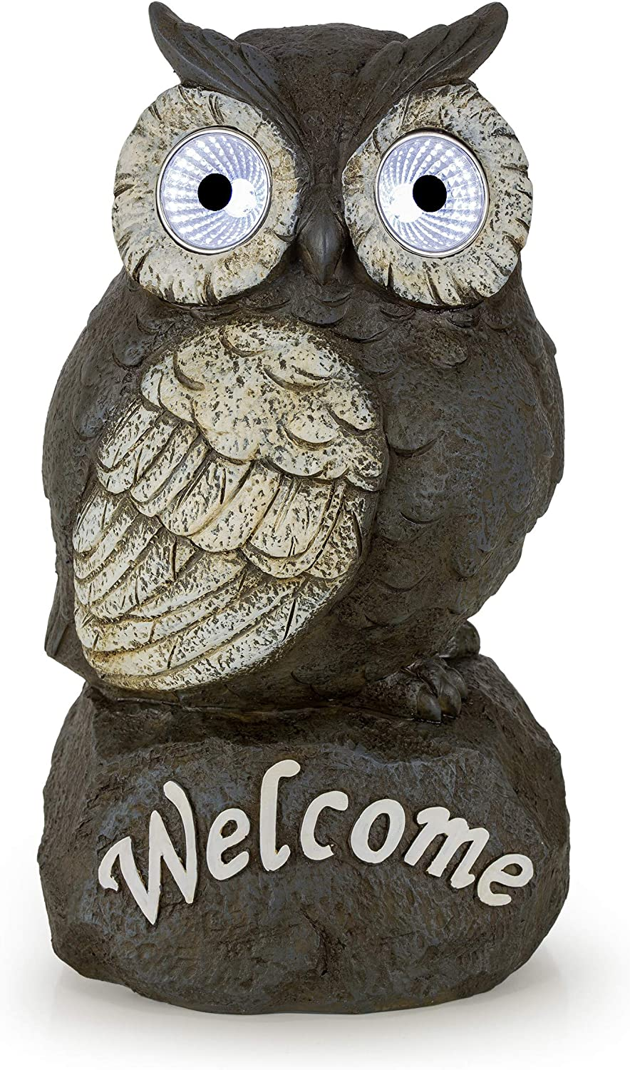 Welcome Owl Solar Powered Outdoor Max 59% OFF LED Light Decor Max 83% OFF Garden