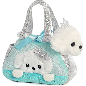 Aurora World Fancy Pals Pet Carrier, Peek-A-Boo Princess Puppy