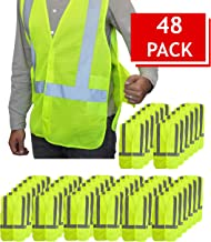 NYOrtho Breathable High-Visibility Safety Vest Reflective - Security Mesh Jacket | ANSI/ISEA Class 2 Compliant | Lightweig...