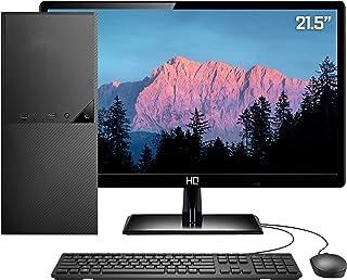 """Computador PC Completo Intel 10ª Geração Monitor LED 21.5"""" 8GB HD 2TB HDMI 4K Áudio 5.1 canais Skill DC"""