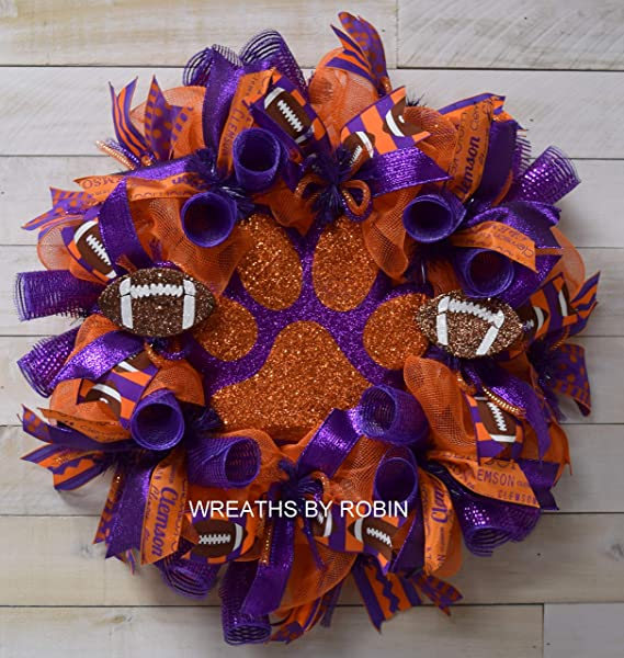 Clemson Sports Wreath College Wreaths 4055