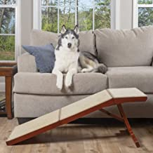 PetSafe CozyUp Sofa Ramp - Durable Wooden Pet Ramp Holds up to 100 lb - Great Couch Access for Dogs and Cats - Cherry Fini...