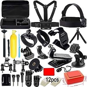 62PCS GoPro Accessories Set Hero 5 Black 6 4 3 HD Action Camera Sport Kit Pack